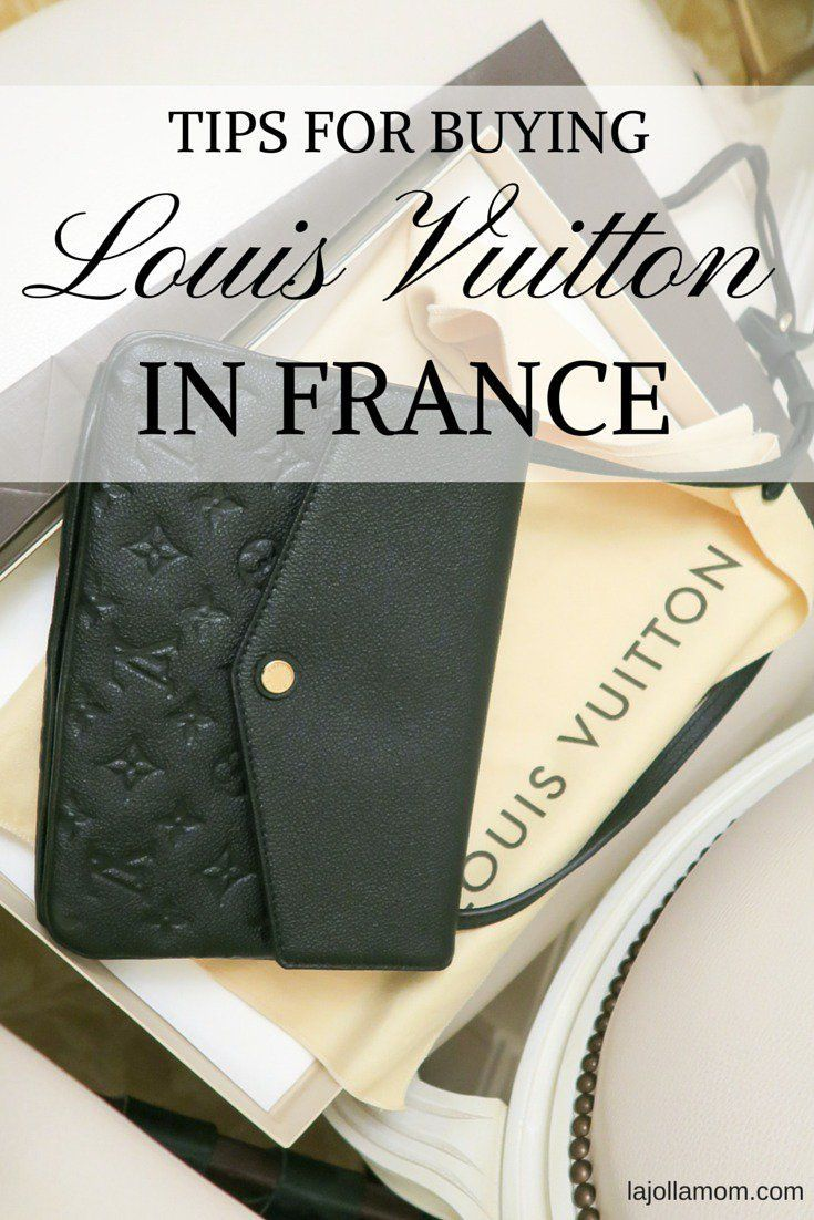 Tips for buying cheaper Louis Vuitton handbags, wallets and fashion accessories in Paris, France.