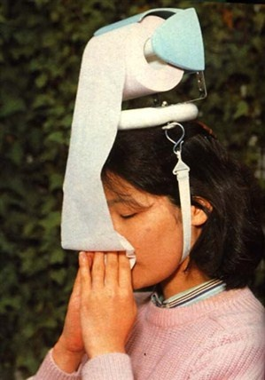 The Hay Fever Hat. Pretty much the most awesome invention ever- I need one so bad!