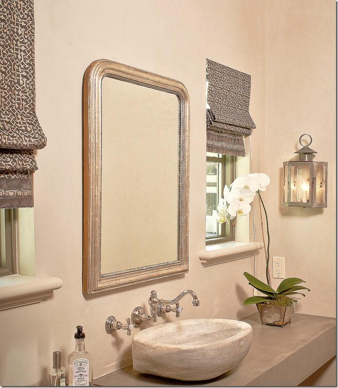 Owens design via cote de texas roman shades and light for Roman bathroom designs