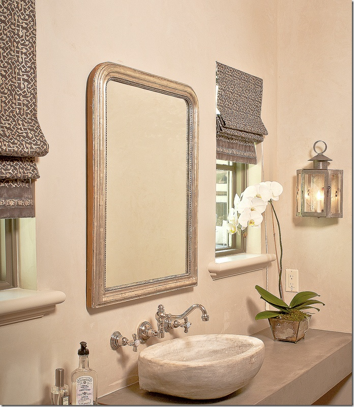 Bathroom Stores In Houston: Owens Design Via Cote De Texas. Roman Shades And Light