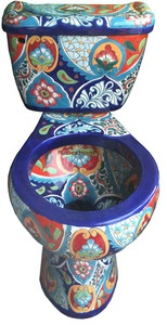 Mexican talavera toilets: hand painted- Now THAT'S a toilet!
