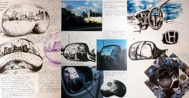 A great A* GCSE Art project exploring the theme 'Mirror Images