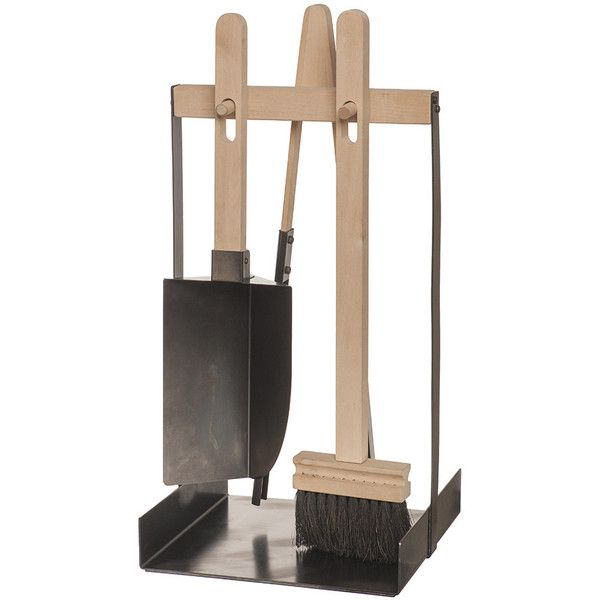 Iris Hantverk Fireplace Tools Set - Birch ($354) ❤ liked on Polyvore featuring home, home decor, fireplace accessories, wood, fireplace tool set, fireplace tools, scandinavian home decor, fire tools and hearth tools