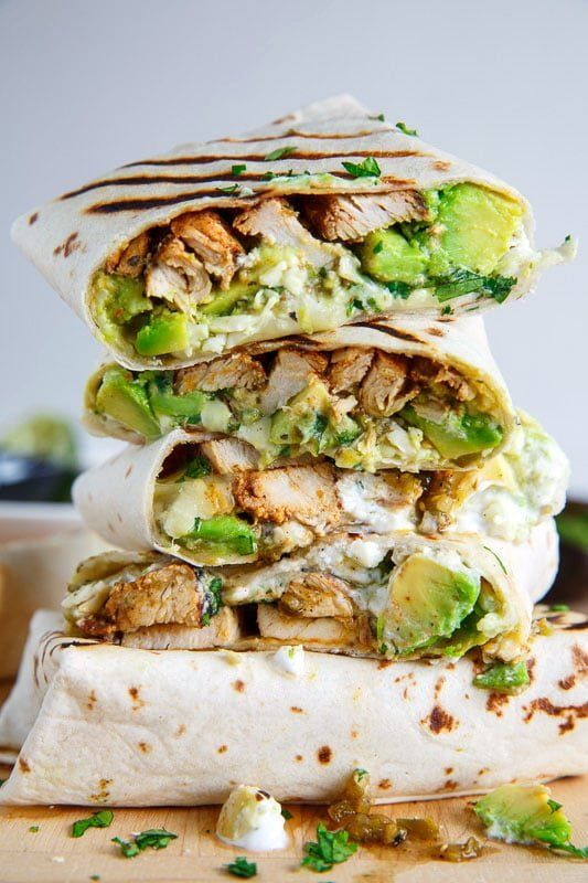 Rezept für Hähnchen-Avocado-Burritos-Wraps (glutenfreie Option verfügbar)   – Chicken recipes