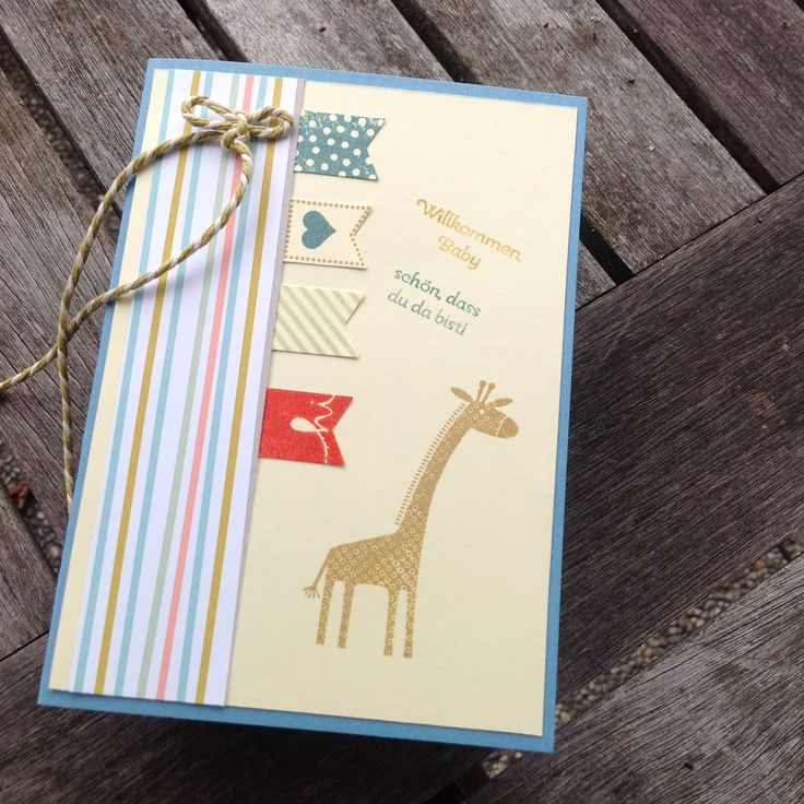 Babykarten für Franz und Leonhard mit Geldtasche innen