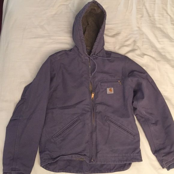 Woman's Purple Carhartt Jacket Barely worn and in excellent condition! Purple with tan Sherpa lining! Really warm! Carhartt Jackets & Coats Utility Jackets