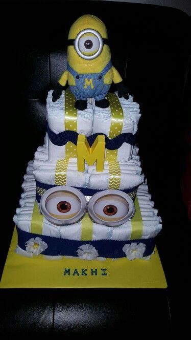 "Despicable Me.  ""Minions""  My first cake."