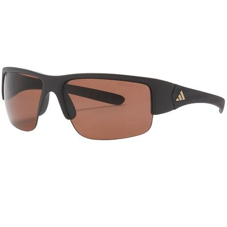 Adidas Mactelo Sunglasses - Polarized in Matte Dark Chocolate/Lst Polarized