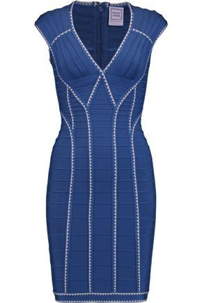Cheap Sale Professional Hervé Léger Woman Fluted Bandage Mini Dress Royal Blue Size M Hérve Léger Cheap Pay With Visa Outlet Collections Visit New Sale Online qpB45