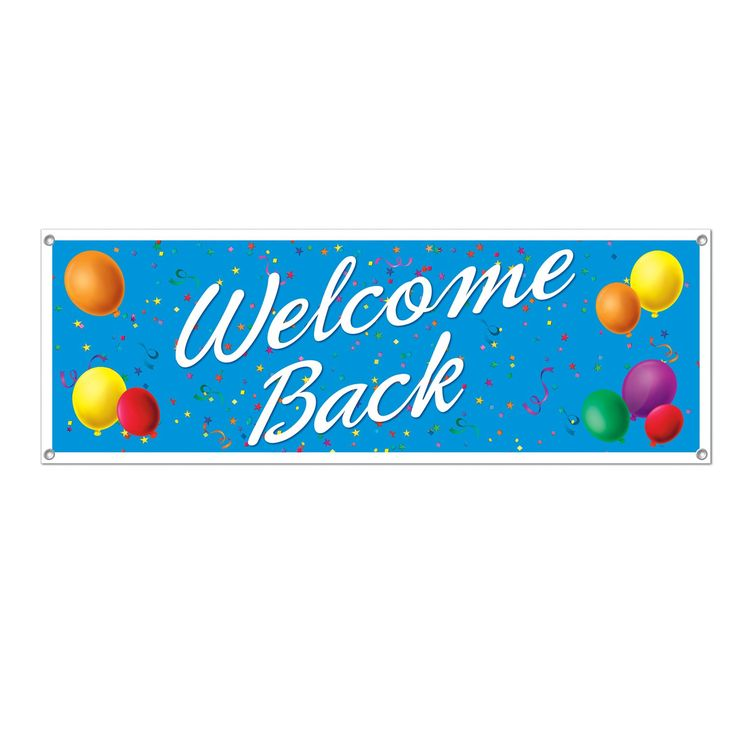 Welcome Back Sign Banner (12ct)