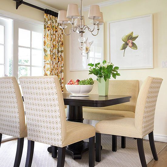 The Chandelier, Fabric Shades And Nooks