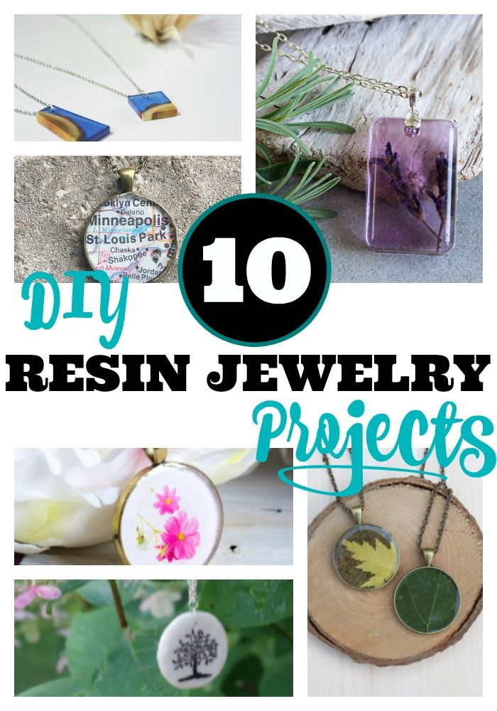10 DIY Resin Jewelry Projects You're Going To Love via @resincraftsblog