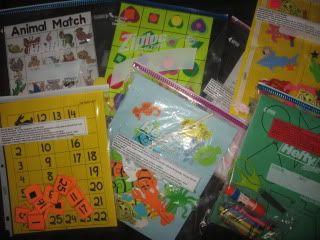 Preschool Activity Bag ideas