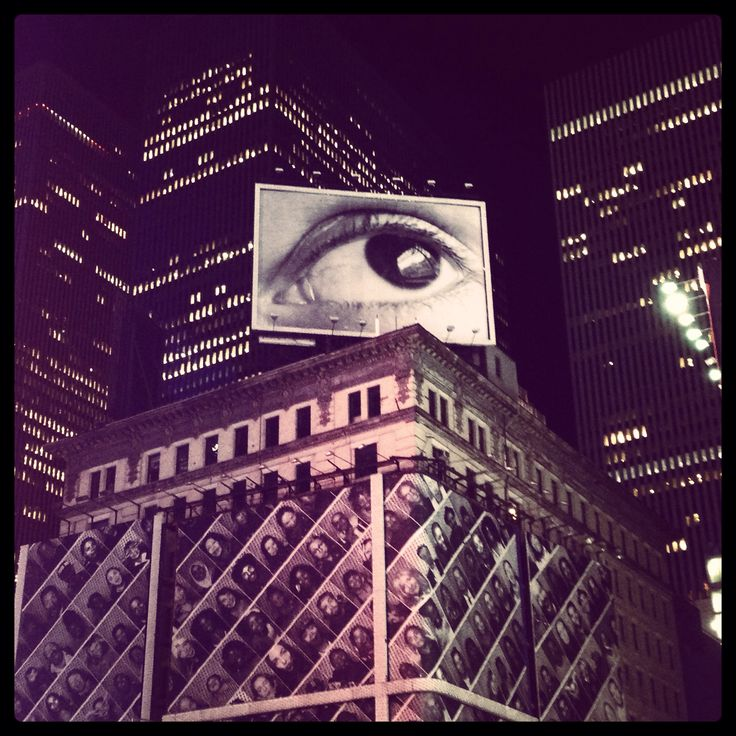 An eye on Time Square, NYC. Sept 2013