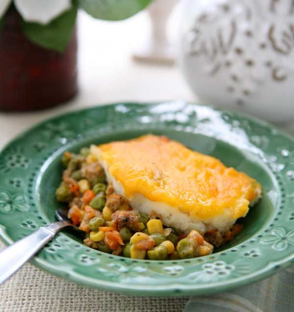 Easy Shepard's Pie Recipe. Was ok, not my favorite but the kids ate it all right