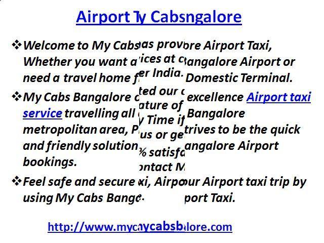 City Taxi Bangalore, Airport Taxi Bangalore on Vimeo