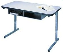 Artco Bell 1911 Adjustable Two Student Desk With Double Book Box Http://
