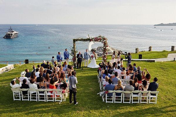 Wedding arch | Luxury destination wedding in Mykonos, Greece