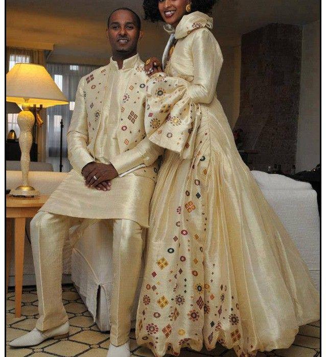 Designer Habesha Wedding Dress