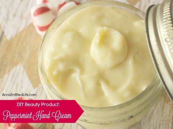 A refreshing holiday scented hand cream that can be customized to any aroma. Soothing to chapped and dry hands, this peppermint hand cream make a great gift, or just keep it for your personal homemade body product use.