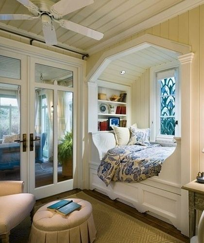 Guest bedroom or a reading nook! - Click image to find more Home Decor Pinterest pins