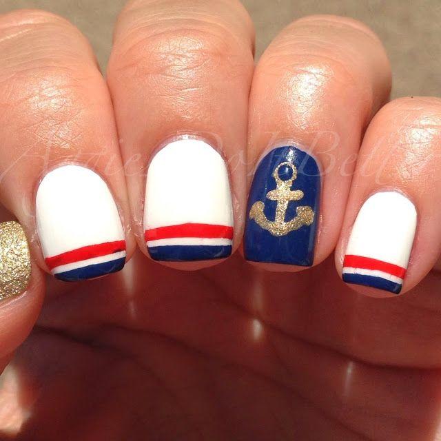 Uñas Nauticas, mas de 40 ejemplos – Nautical Nails   Decoración de Uñas - Manicura y Nail Art