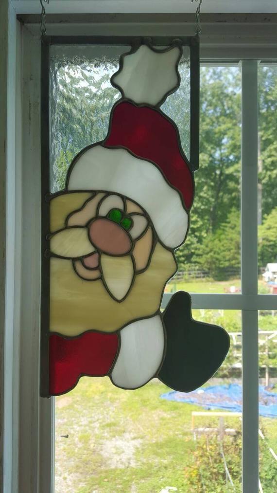 Santa and Rudolph Window Corners | HA 03 sticken Weihnachten ...
