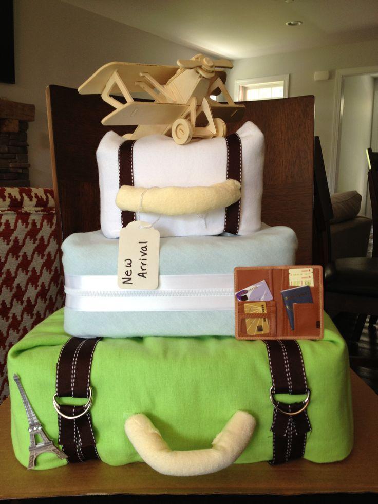 Travel Theme Diaper Cake