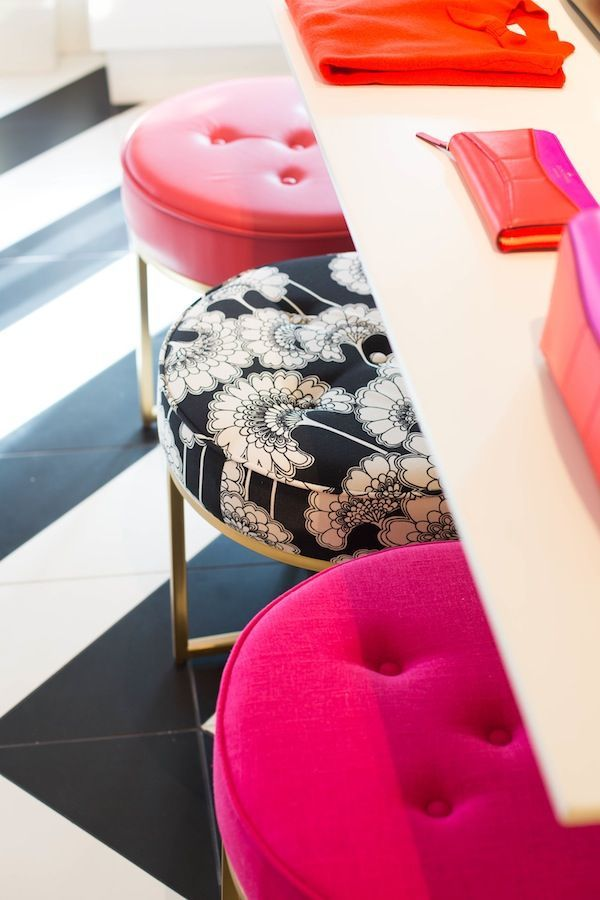 print-and-patterned-stool-cushions