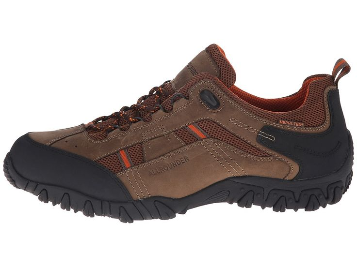 Allrounder by Mephisto Selino Tex Men's Lace up casual Shoes Taupe Ori/Dark Brown Sandwich Mesh