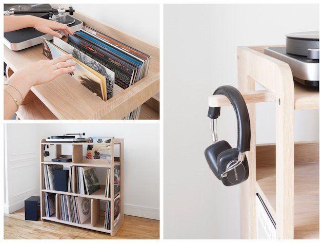 Les 8 meilleures images du tableau meubles vynil sur for Meuble pour platine vinyle