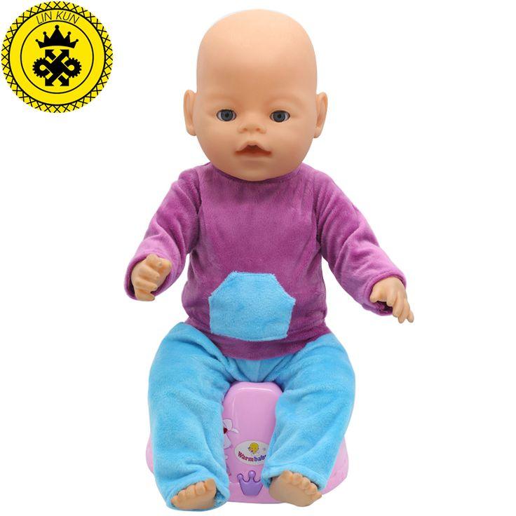 43 см Baby Born Zapf Кукла Одежда Фиолетовая Рубашка Синие Брюки Набор Платье Принцессы Zapf Кукла Аксессуары Ручной Работы Причинно Стиль 096купить в магазине American Girl Doll Accessories ShopнаAliExpress