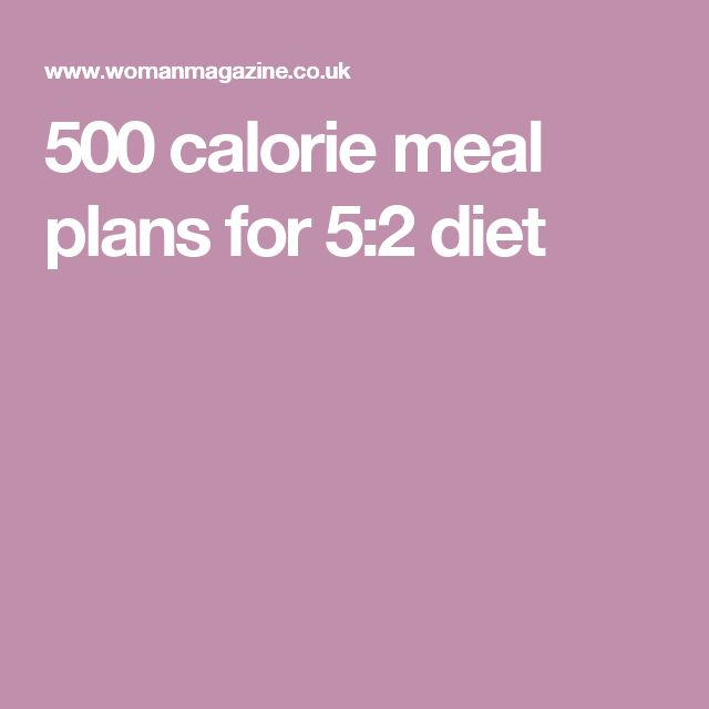500 calorie meal plans for 5:2 diet