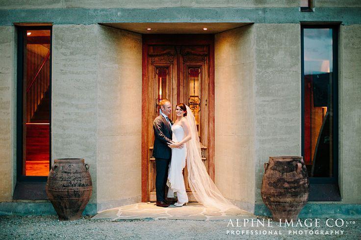 Argentinian doors and newlyweds at The Rippon Hall, Wanaka, Newzealand