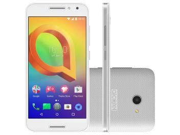 "Smartphone Alcatel A3 16GB Branco Dual Chip 4G - Câm. 8MP + Selfie 5MP Tela 5"" Proc. Quad Core"