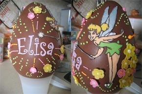 decorare le uova di cioccolato