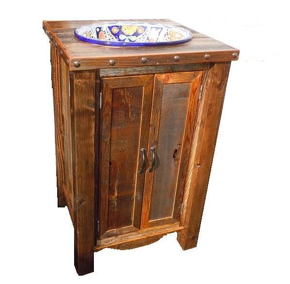 Barnwood Vanity Bathrooms Pinterest Rustic Bathroom