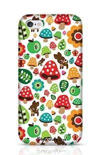 Musroom Autumn Deer And Apple Pattern Apple iPhone 6 Phone Case