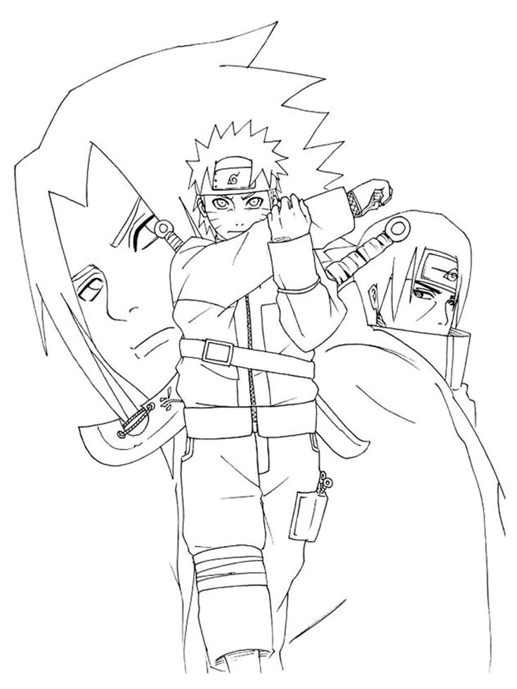 24 best images about anime game embroidery patterns on Coloring book naruto