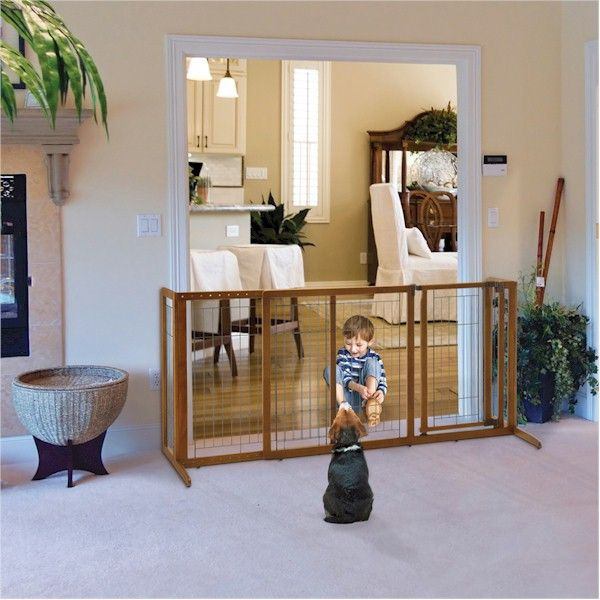 Large Deluxe Freestanding Dog Gate