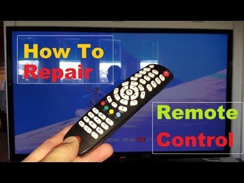 Remote Control Repair Buttons That Don't Work  How To 