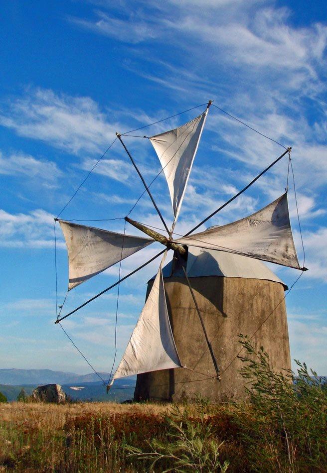 Traditional windmill Penacova, Portugal