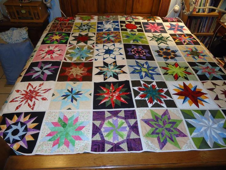 Quilting 50 State Star Paper Pieced Quilt Quilting