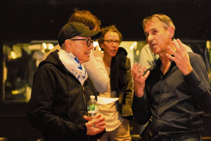 David Bowie and Ivo van Hove photo during Lazarus production in NY