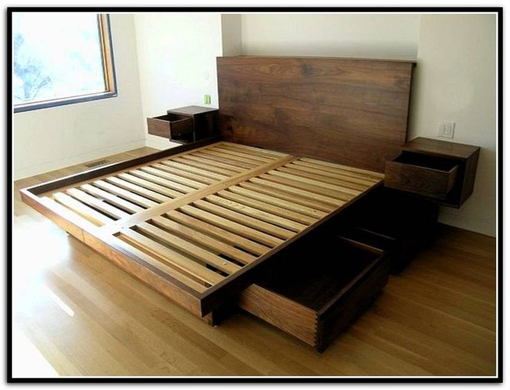 diy queen bed frame with storage - King Bed Frame With Storage