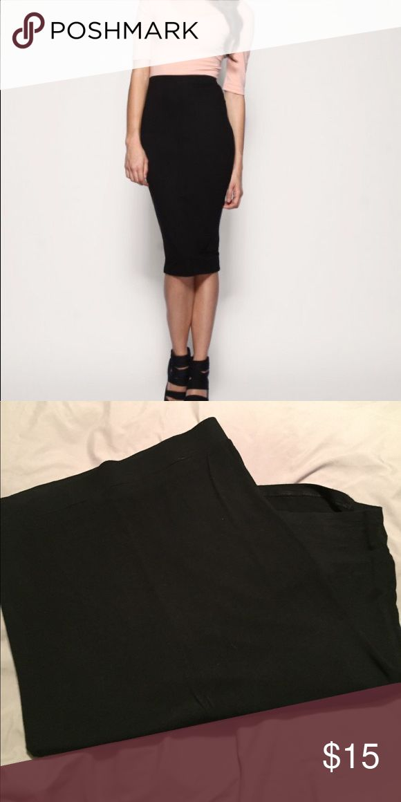Long Black Pencil Skirt Perfect condition long black pencil skirt, super soft material with plenty of stretch Skirts Pencil
