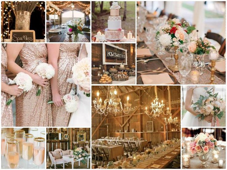 Becky and Neil's New Years Eve Barn Wedding with rose gold