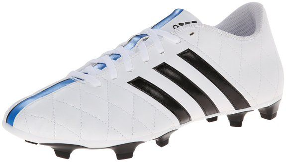 adidas Performance Men's 11questra Fg Soccer Firm Ground Cleat, White/Black/Solar Blue, 8.5 M US: http://amzn.to/1FYtUXN