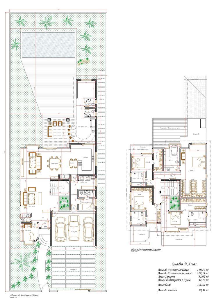 Planos casa 4 habitaciones desnivel