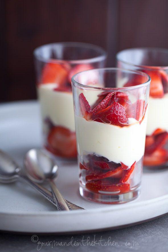 Strawberry lemon coconut cream parfaits